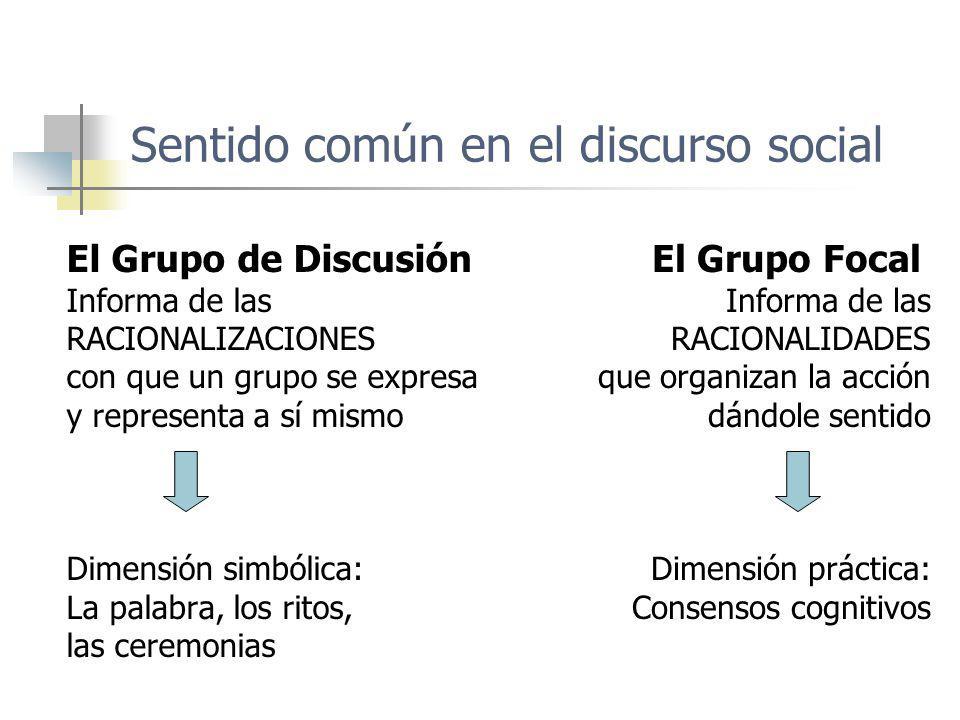 Sentido común en el discurso social