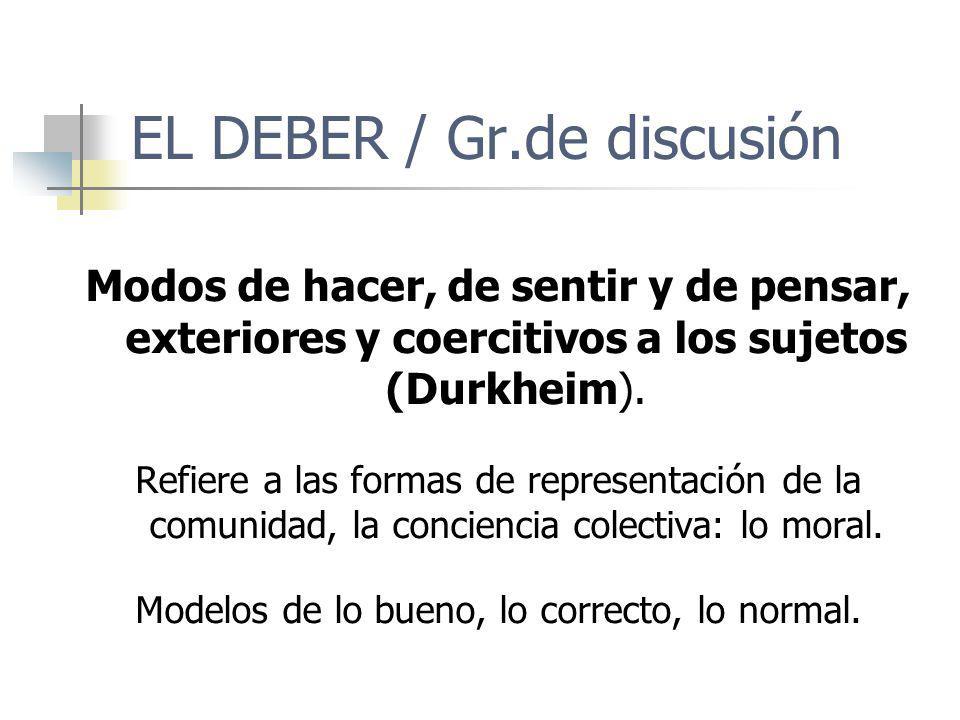 EL DEBER / Gr.de discusión