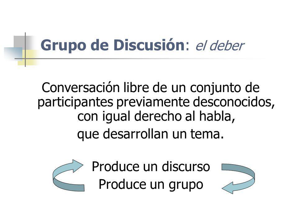 Grupo de Discusión: el deber