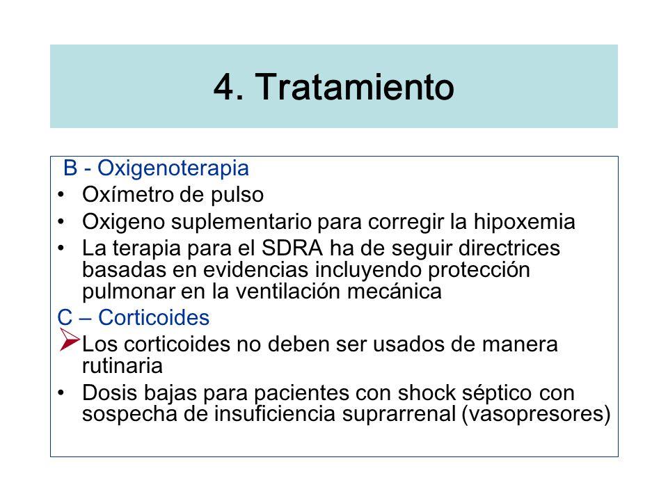 4. Tratamiento B - Oxigenoterapia Oxímetro de pulso