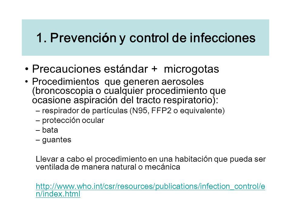 1. Prevención y control de infecciones