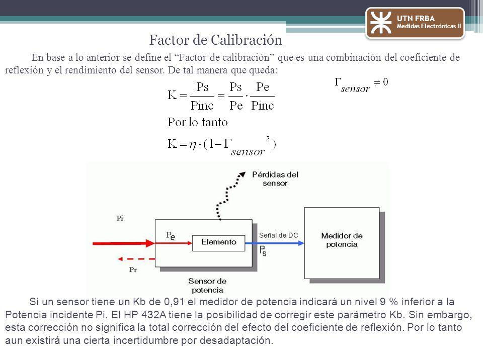 UTN FRBA Medidas Electrónicas II. Factor de Calibración.