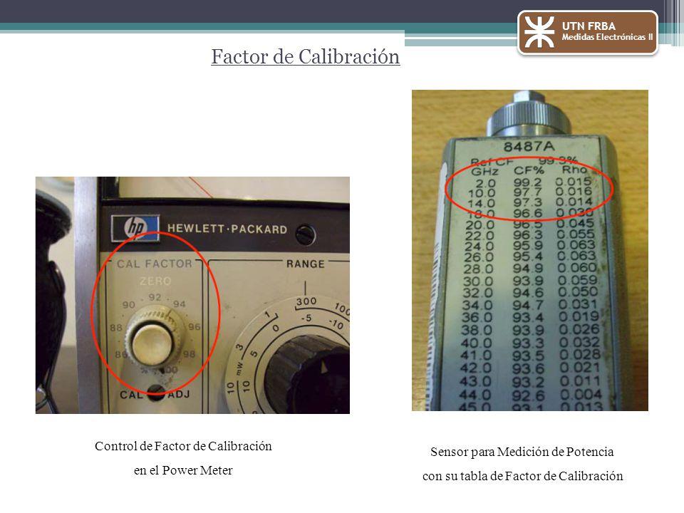 Factor de Calibración Control de Factor de Calibración