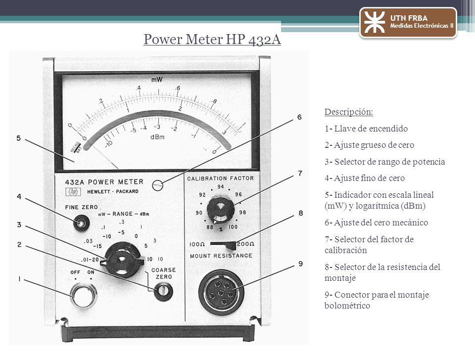 Power Meter HP 432A Descripción: 1- Llave de encendido