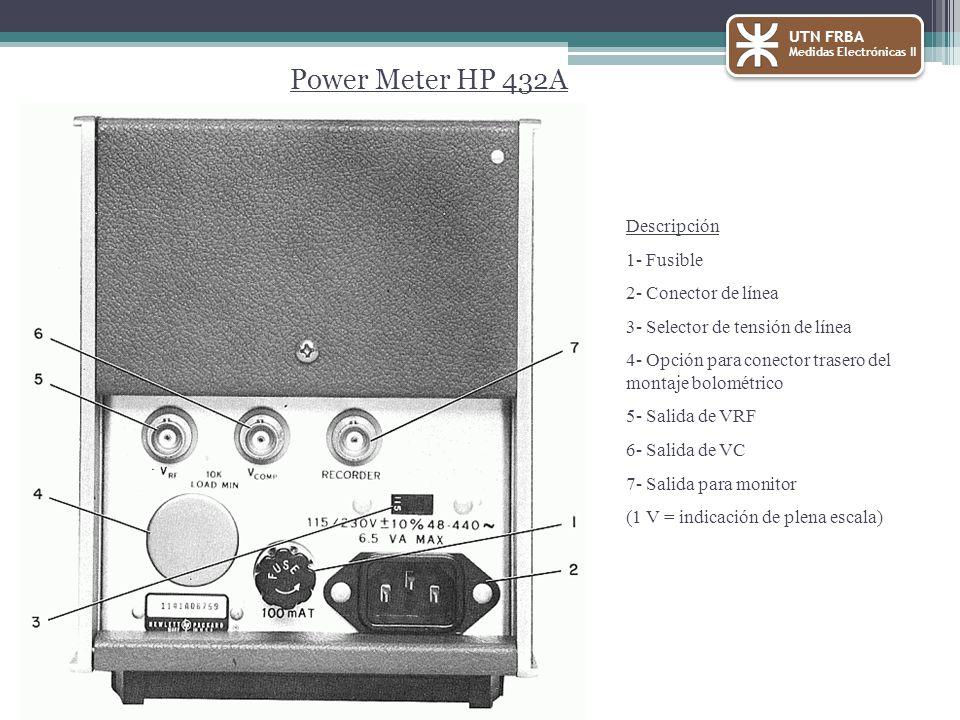 Power Meter HP 432A Descripción 1- Fusible 2- Conector de línea