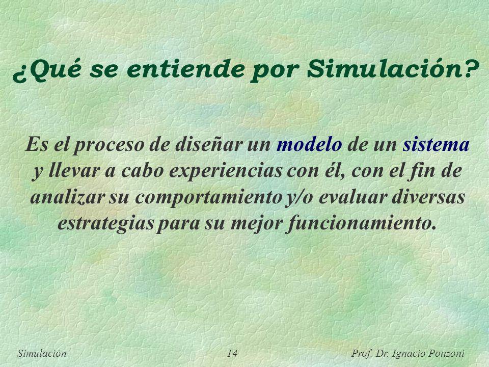 ¿Qué se entiende por Simulación