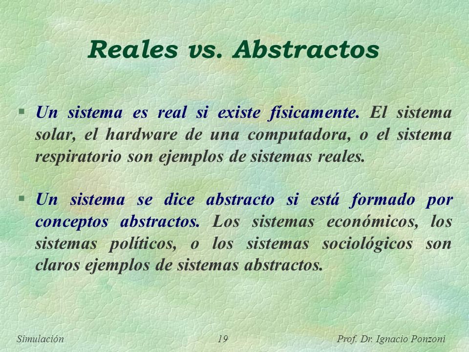 Reales vs. Abstractos