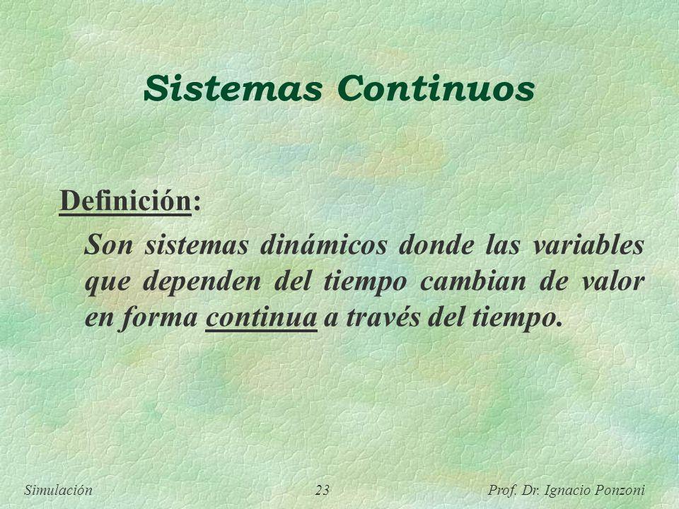 Sistemas Continuos Definición: