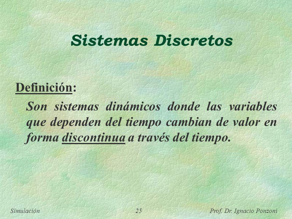 Sistemas Discretos Definición: