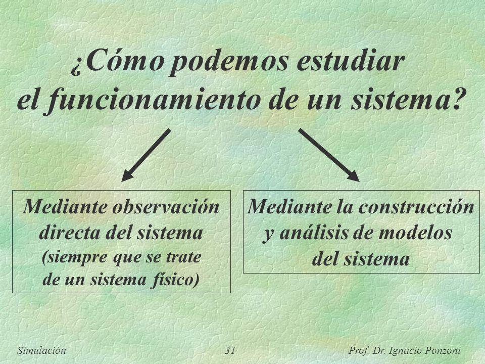el funcionamiento de un sistema