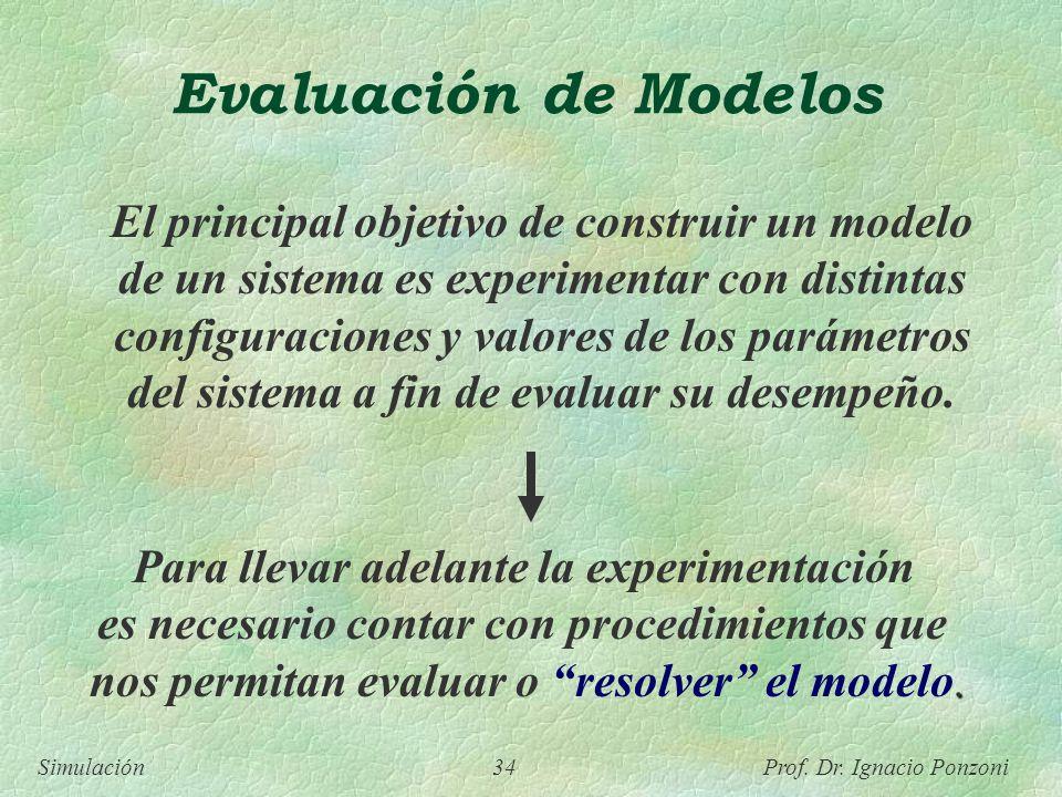 Evaluación de Modelos Para llevar adelante la experimentación
