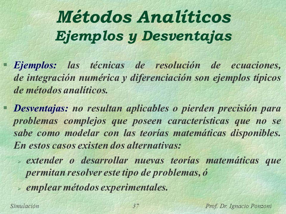 Métodos Analíticos Ejemplos y Desventajas