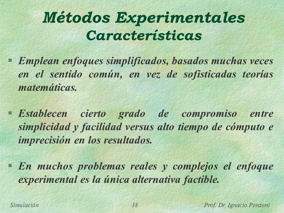 Métodos Experimentales Características