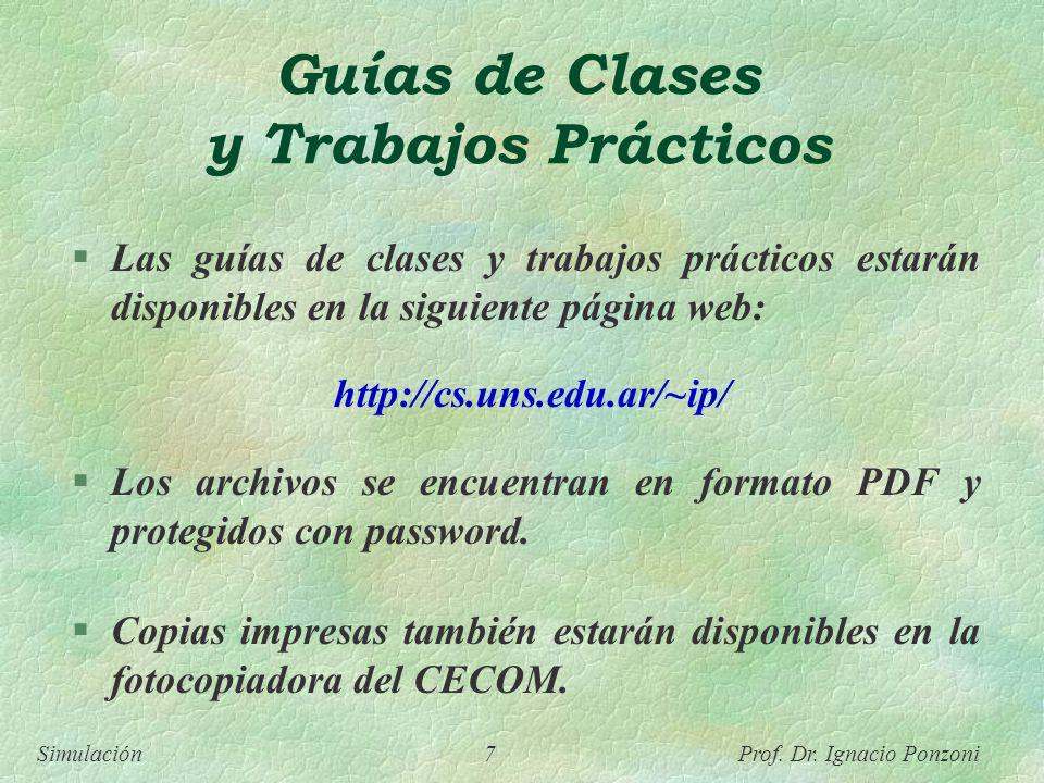 Guías de Clases y Trabajos Prácticos