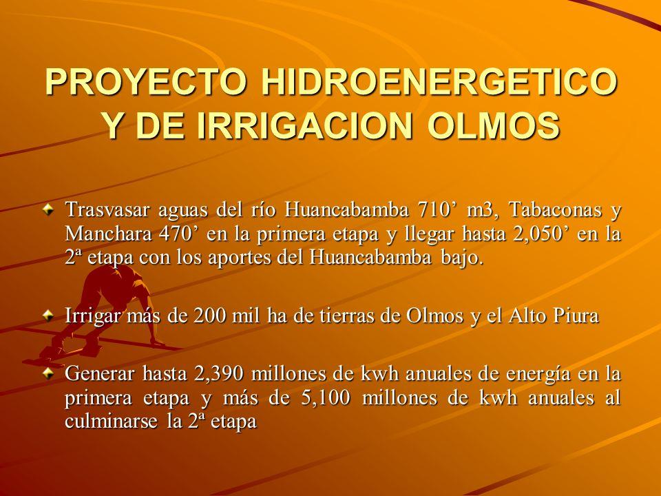 PROYECTO HIDROENERGETICO Y DE IRRIGACION OLMOS