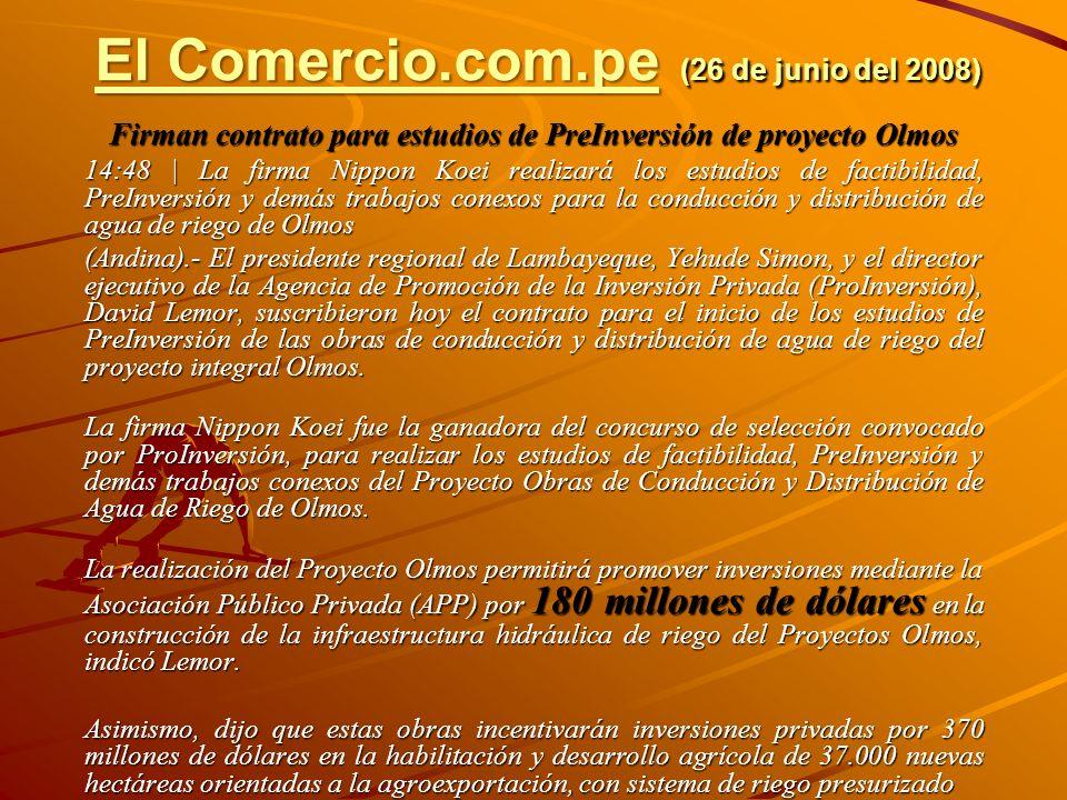 El Comercio.com.pe (26 de junio del 2008)