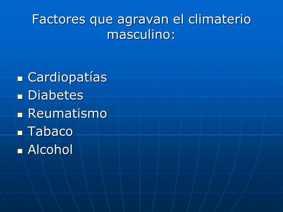 Factores que agravan el climaterio masculino: