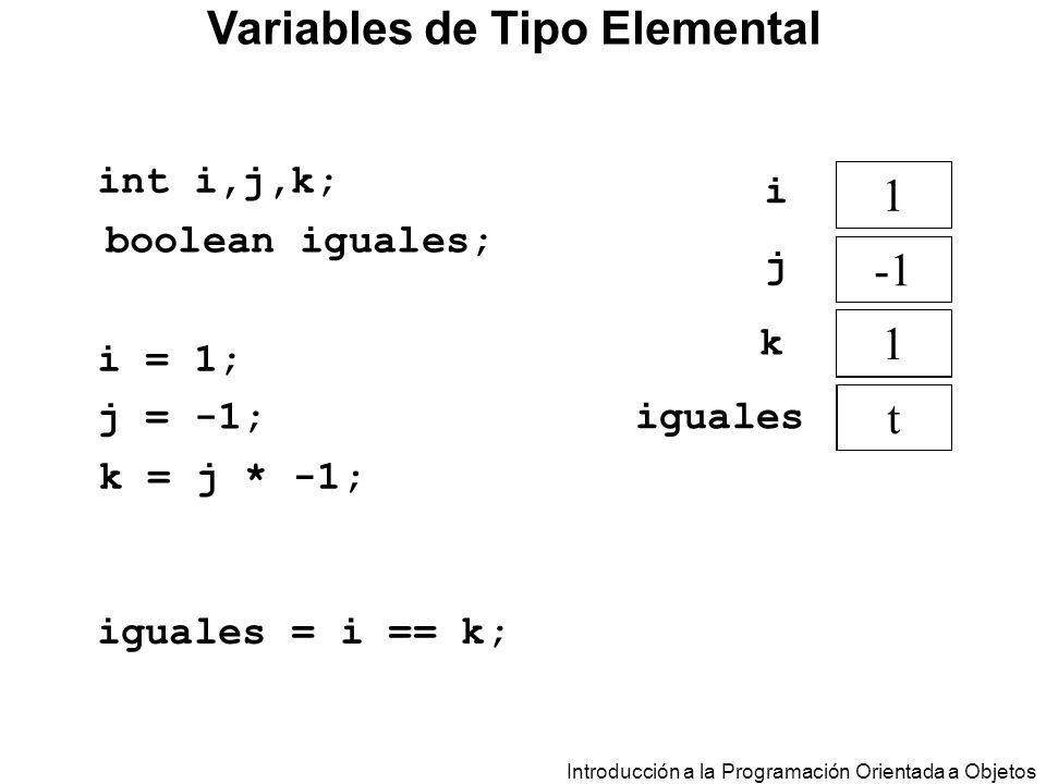 Variables de Tipo Elemental
