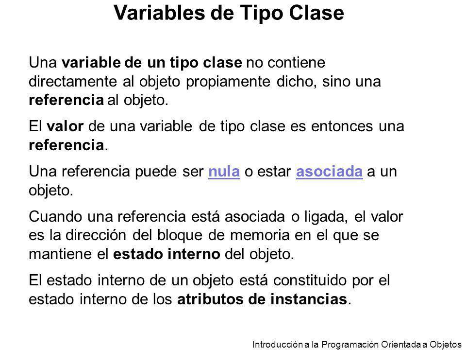 Variables de Tipo Clase
