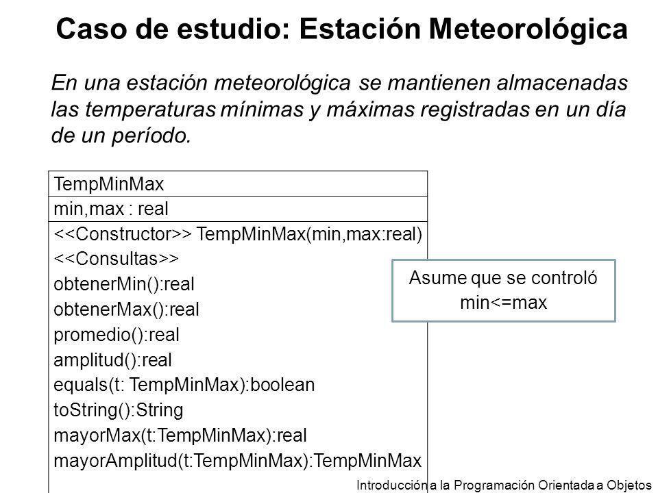 Caso de estudio: Estación Meteorológica