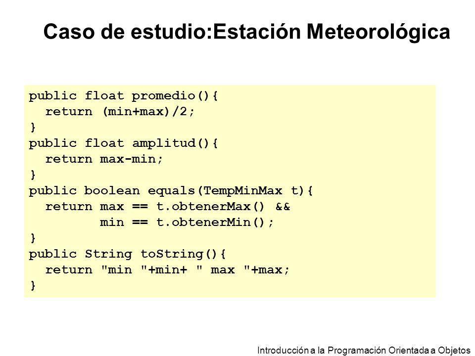 Caso de estudio:Estación Meteorológica