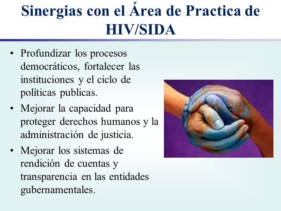 Sinergias con el Área de Practica de HIV/SIDA