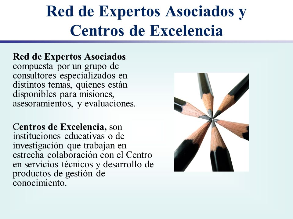 Red de Expertos Asociados y Centros de Excelencia