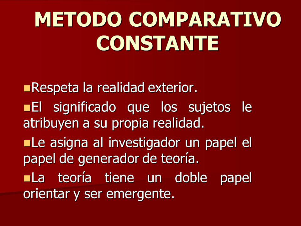 METODO COMPARATIVO CONSTANTE