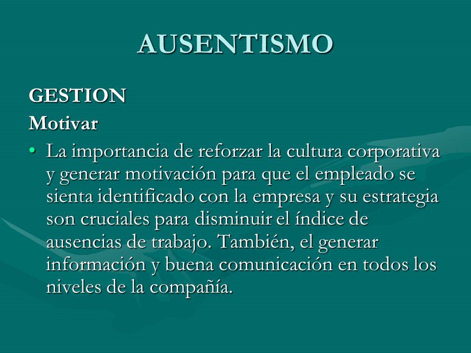 AUSENTISMO GESTION Motivar