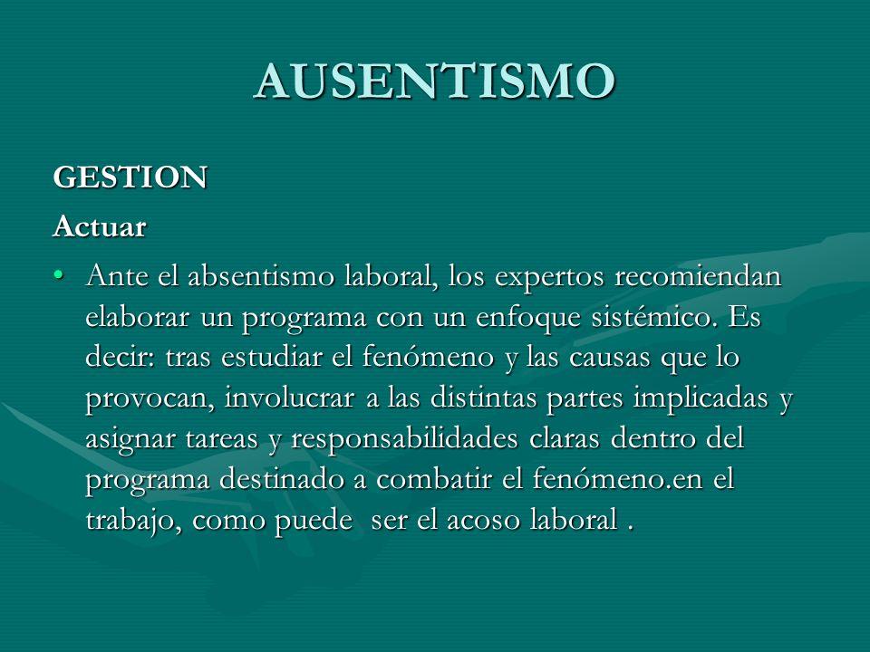 AUSENTISMO GESTION Actuar