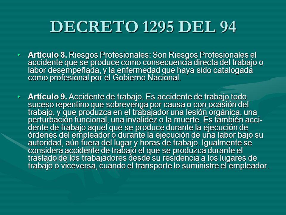 DECRETO 1295 DEL 94