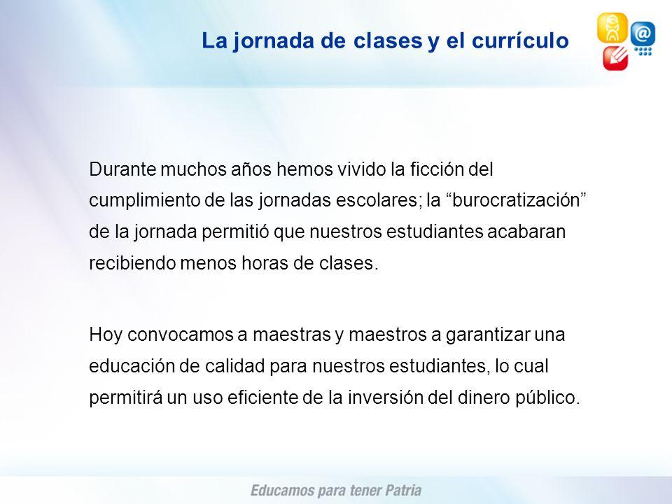 La jornada de clases y el currículo