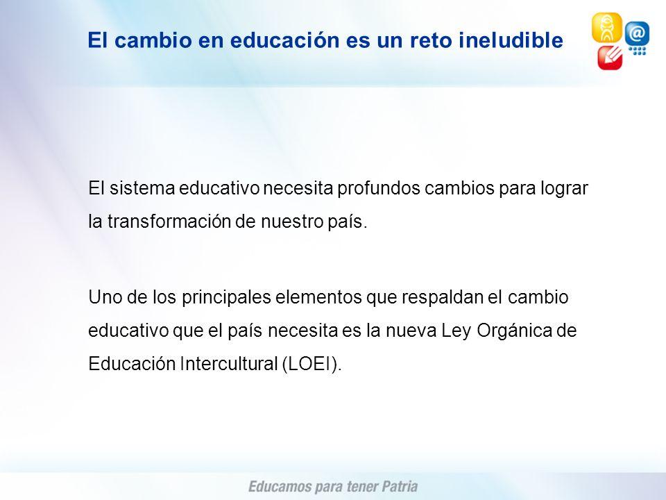 El cambio en educación es un reto ineludible