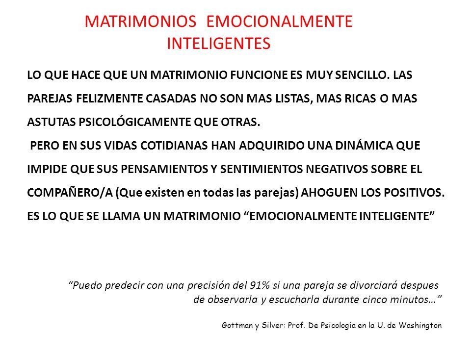 MATRIMONIOS EMOCIONALMENTE INTELIGENTES
