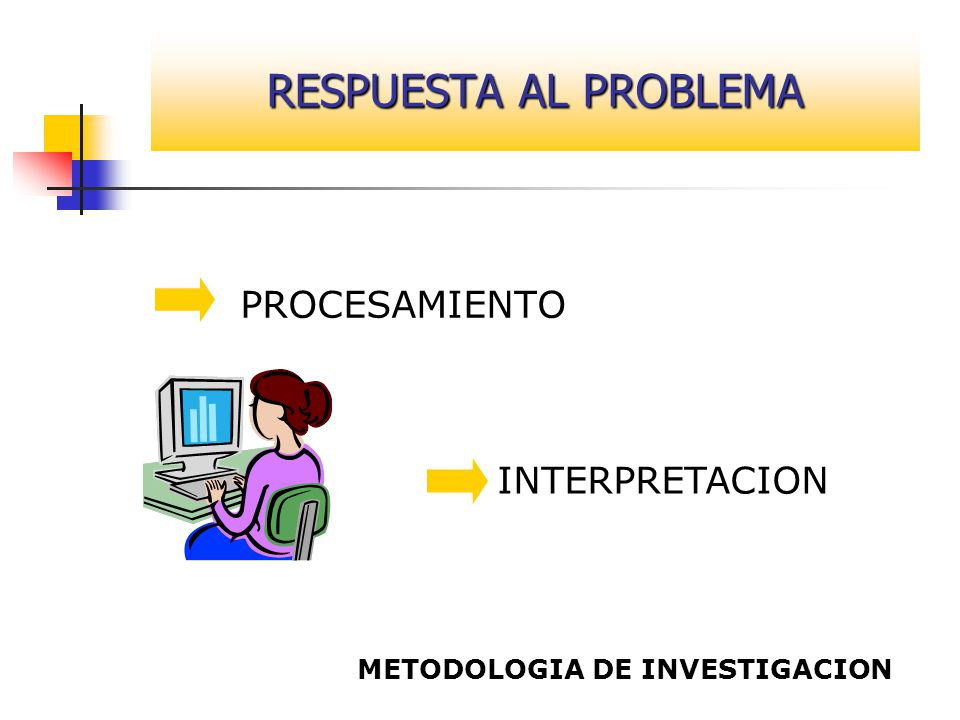 RESPUESTA AL PROBLEMA PROCESAMIENTO INTERPRETACION