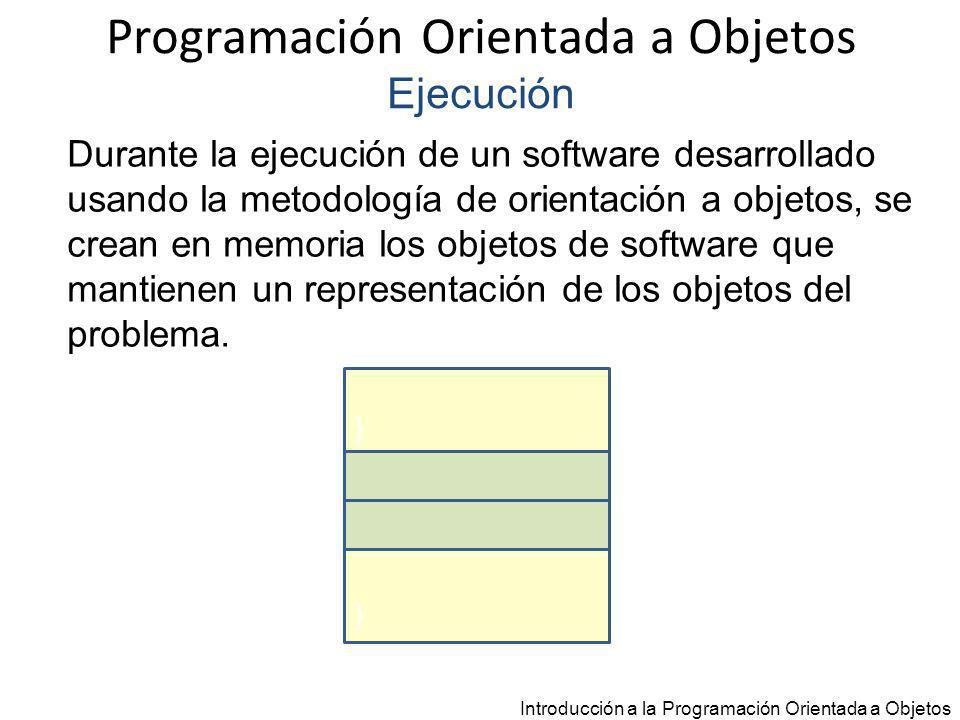Programación Orientada a Objetos Ejecución