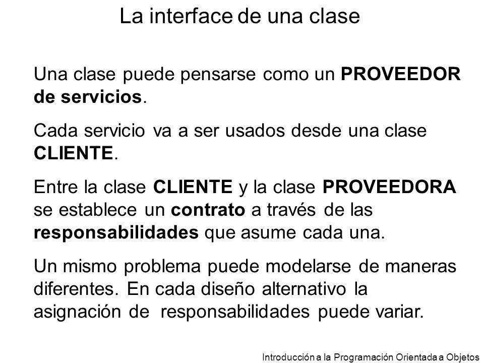 La interface de una clase