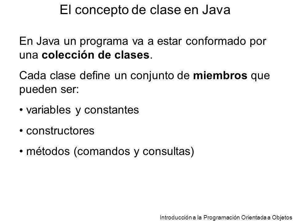 El concepto de clase en Java