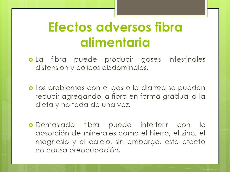 Efectos adversos fibra alimentaria