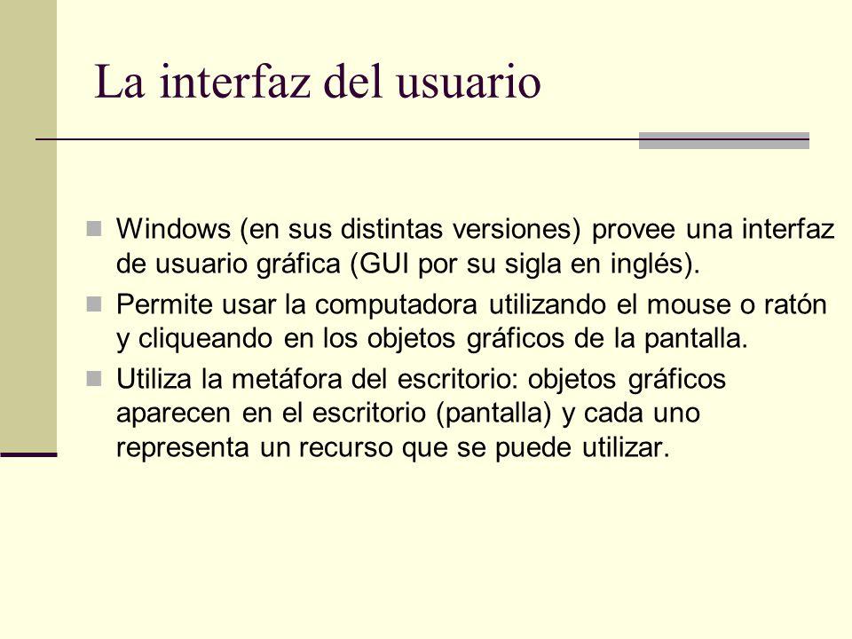 La interfaz del usuario