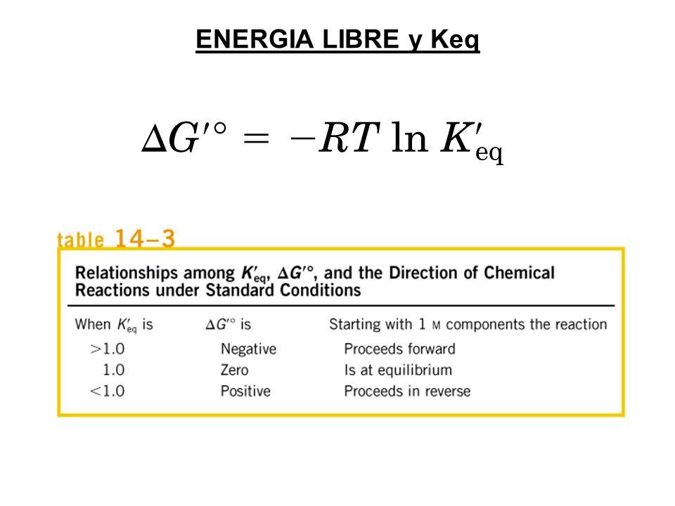 ENERGIA LIBRE y Keq