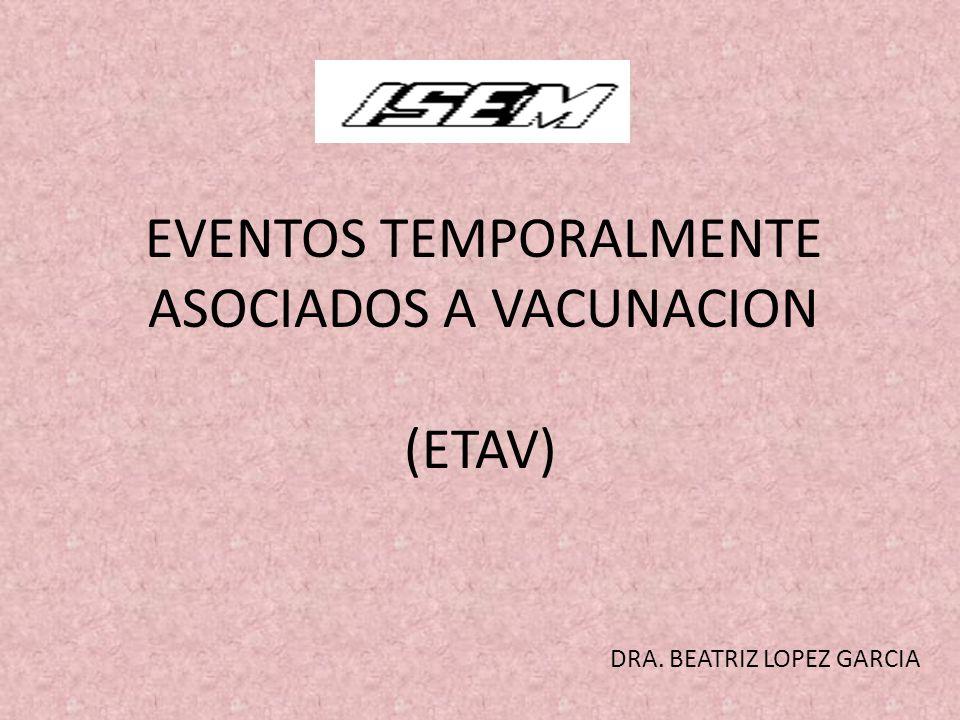 EVENTOS TEMPORALMENTE ASOCIADOS A VACUNACION