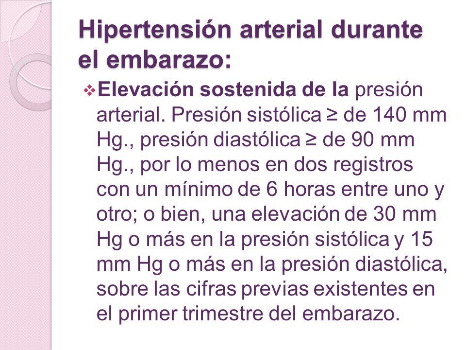 Hipertensión arterial durante el embarazo: