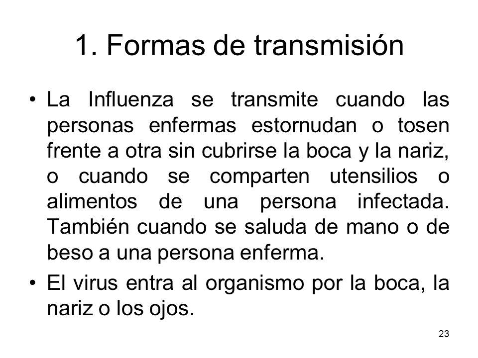 1. Formas de transmisión