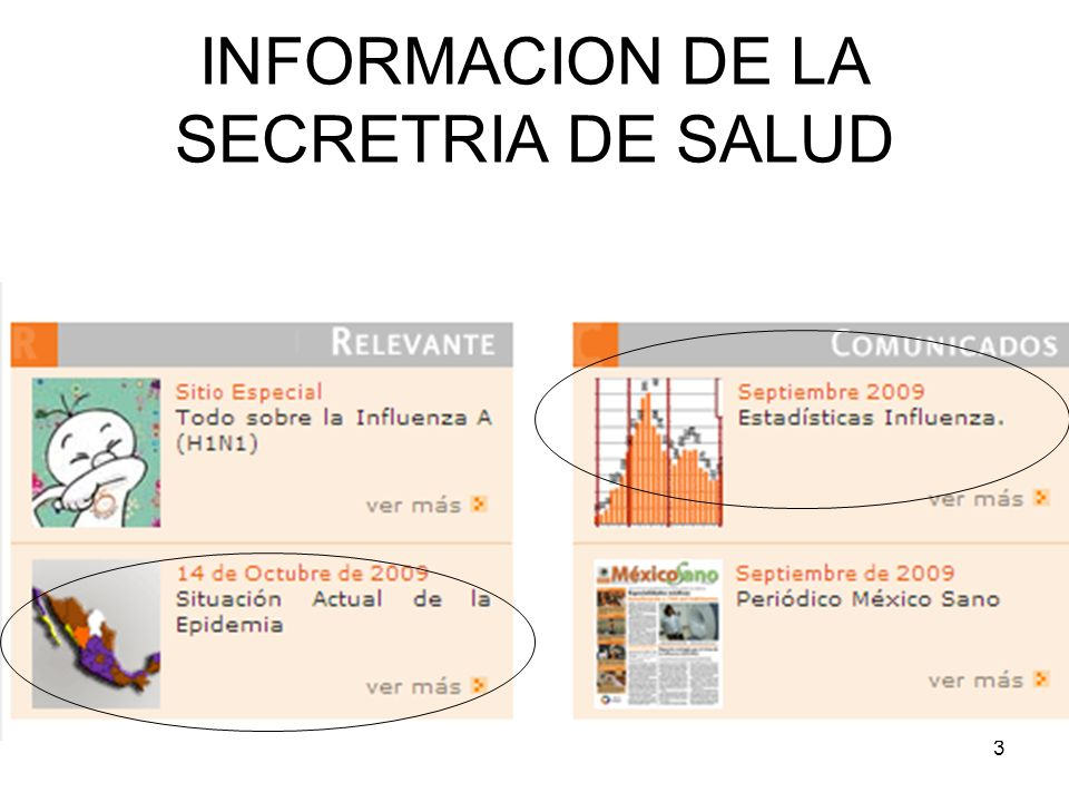 INFORMACION DE LA SECRETRIA DE SALUD
