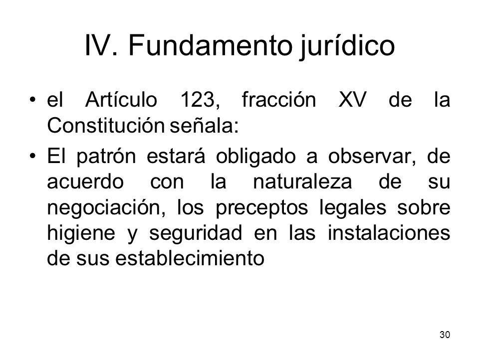 IV. Fundamento jurídico