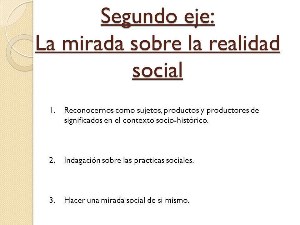 Segundo eje: La mirada sobre la realidad social