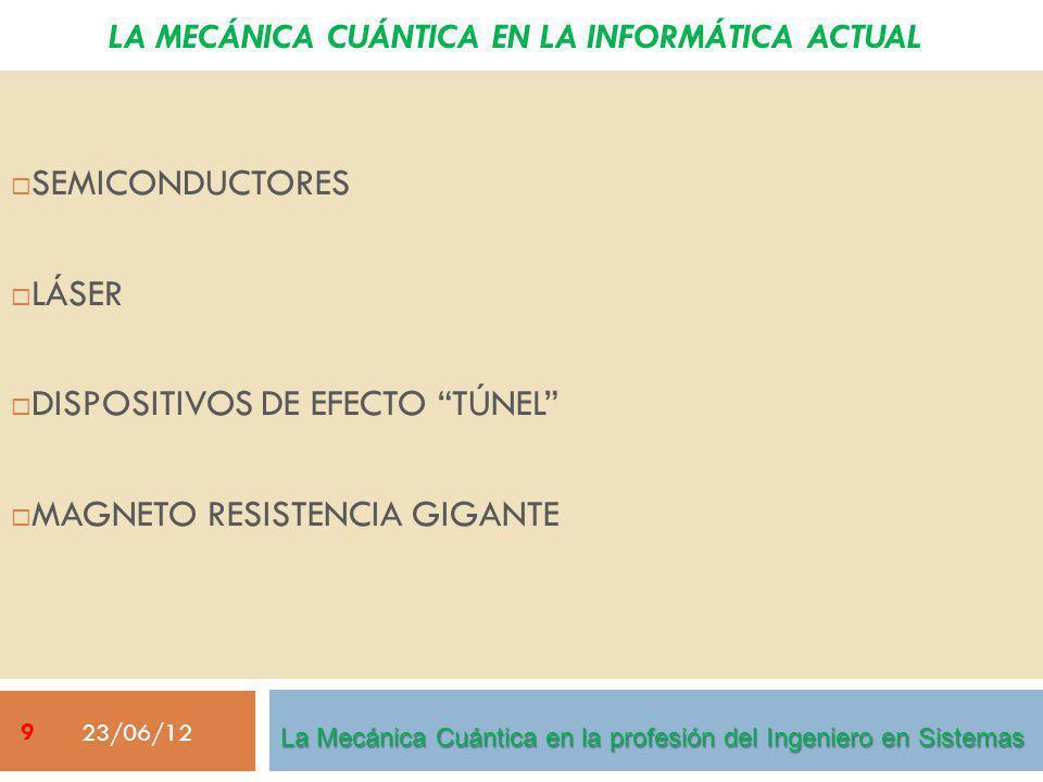 LA MECÁNICA CUÁNTICA EN LA INFORMÁTICA ACTUAL