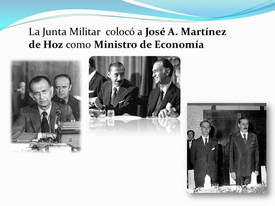 La Junta Militar colocó a José A