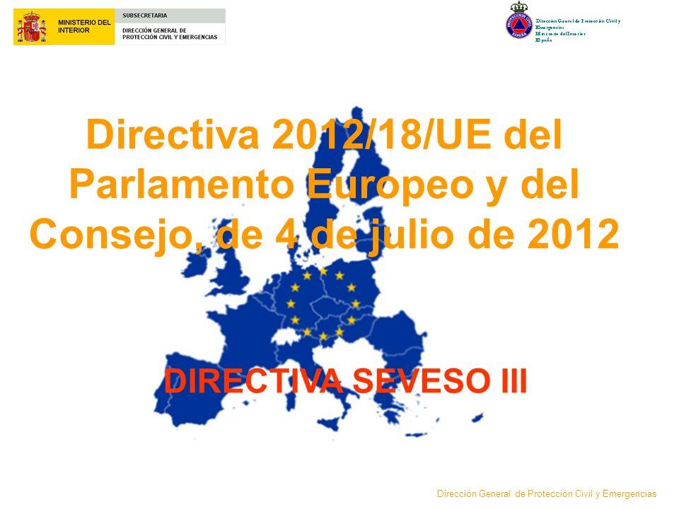 Directiva 2012/18/UE del Parlamento Europeo y del Consejo, de 4 de julio de 2012